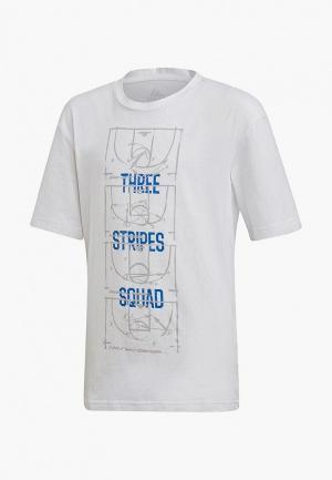 Футболка adidas YB ID STA TEE. Цвет: белый