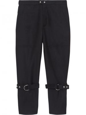 Классические брюки с ремешками Burberry. Цвет: синий