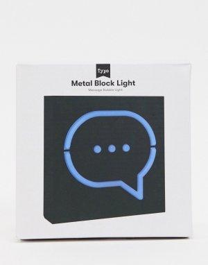 Светильник со значком текста Typo-Многоцветный TYPO