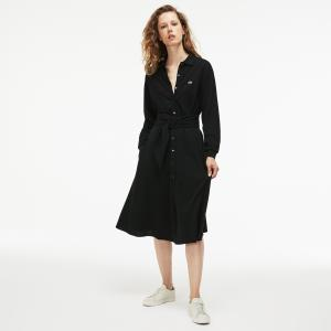 Платье Lacoste. Цвет: черный