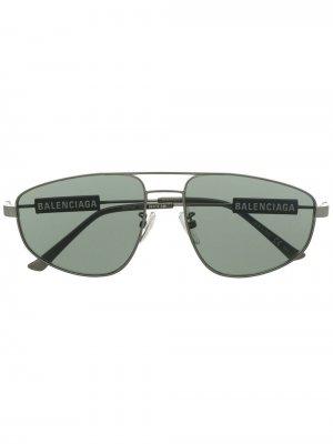 Солнцезащитные очки-авиаторы Balenciaga Eyewear. Цвет: зеленый