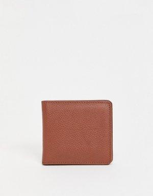 Кожаный бумажник -Коричневый цвет Urbancode