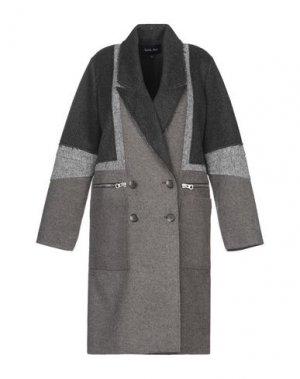 Пальто APRIL MAY. Цвет: стальной серый