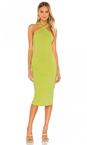 Платье shrimpton Lovers + Friends. Цвет: зеленый