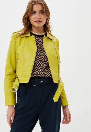 Куртка кожаная Befree. Цвет: желтый
