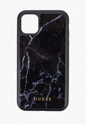 Чехол для телефона Guess 11, Marble Collection Hard PC/TPU Black. Цвет: черный
