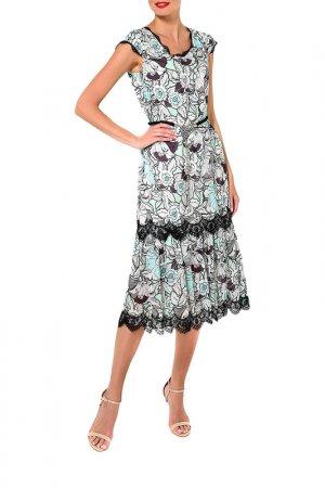 Платье Caterina Leman. Цвет: серый, зеленый (08/06)