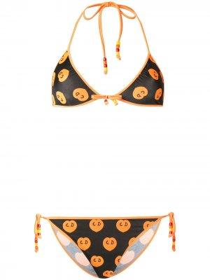Бикини с логотипом Christian Dior. Цвет: черный