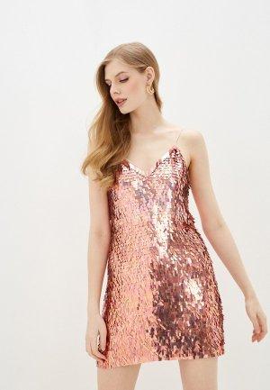 Платье Alice + Olivia. Цвет: золотой