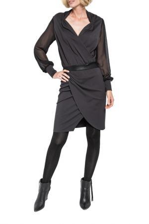 Платье Apart. Цвет: антрацитовый, черный