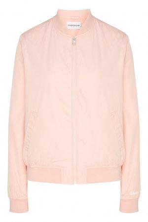 Розовый бомбер Calvin Klein. Цвет: розовый