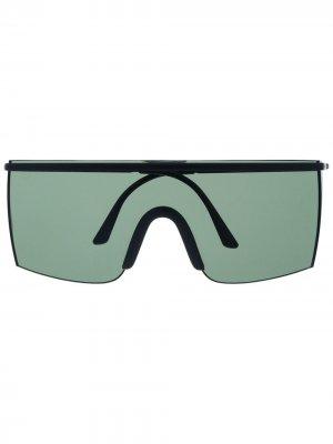 Массивные солнцезащитные очки 1990-х годов Versace Pre-Owned. Цвет: черный
