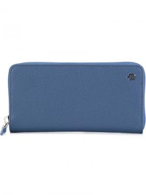 Прямоугольный кошелек на молнии Dunhill. Цвет: синий