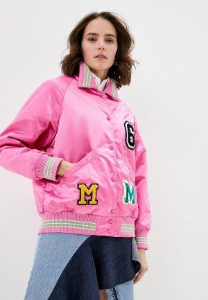 Куртка утепленная MM6 Maison Margiela. Цвет: розовый