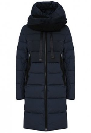 Удлиненная стеганая куртка с шарфом Neohit