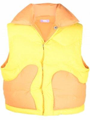 Дутый жилет ERL. Цвет: желтый