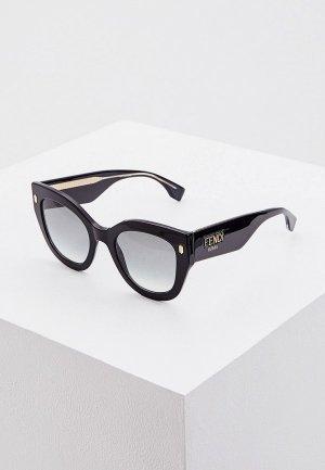 Очки солнцезащитные Fendi FF M0098/S 84E. Цвет: золотой