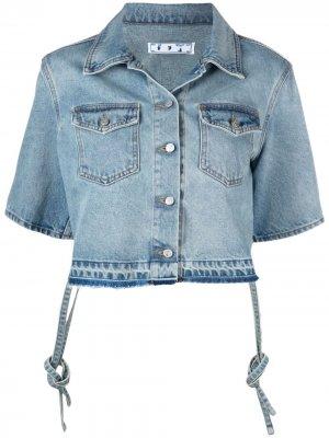 Джинсовая куртка с короткими рукавами Off-White. Цвет: синий