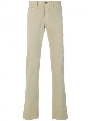 Классические брюки Brioni. Цвет: телесный
