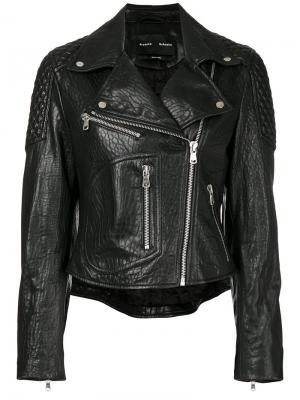 Leather Moto Jacket Proenza Schouler. Цвет: черный