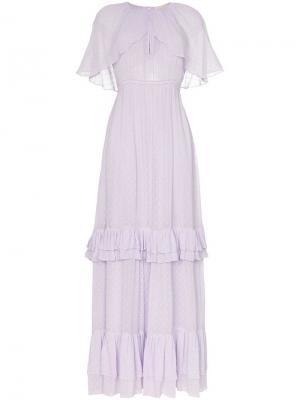 Ярусное платье макси с короткими рукавами byTiMo