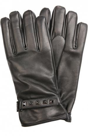 Перчатки Valentino. Цвет: черный
