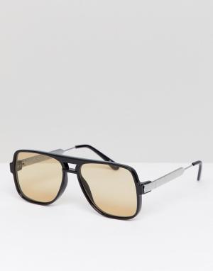 Квадратные солнцезащитные очки в черной оправе Spitfire. Цвет: черный