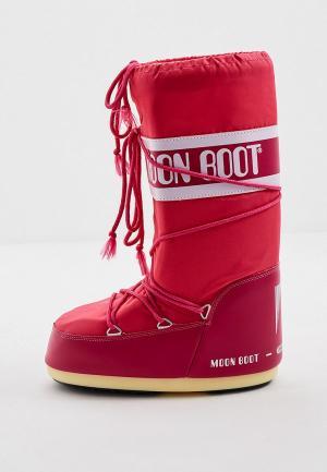 Луноходы Moon Boot. Цвет: розовый