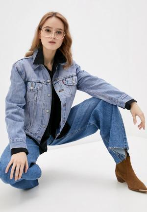 Куртка джинсовая Levis® Levi's® EX BOYFRIEND TRUCKER. Цвет: голубой