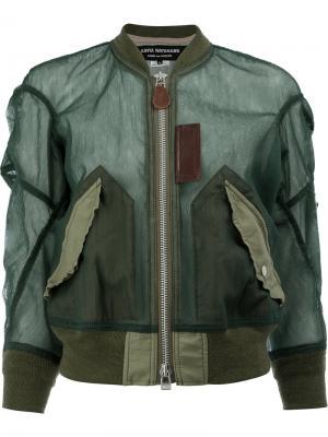 Contrast bomber jacket Junya Watanabe Comme Des Garçons. Цвет: зелёный