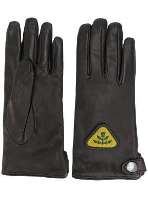 Перчатки с нашивками Diesel. Цвет: чёрный