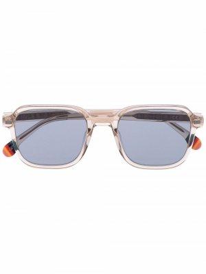 Солнцезащитные очки Delany в квадратной оправе PAUL SMITH. Цвет: нейтральные цвета