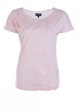 Футболка LEO GUY. Цвет: розовый