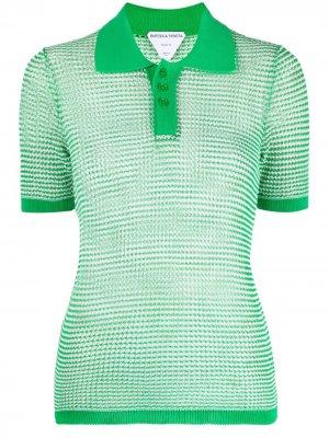 Трикотажная рубашка поло Bottega Veneta. Цвет: зеленый
