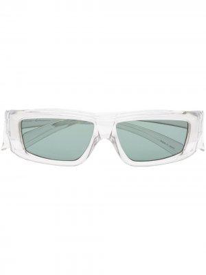 Солнцезащитные очки в прямоугольной оправе Rick Owens. Цвет: нейтральные цвета