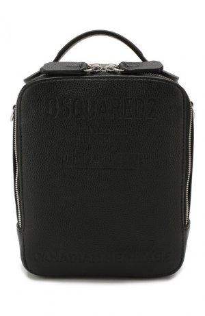 Кожаная сумка Dsquared2. Цвет: черный