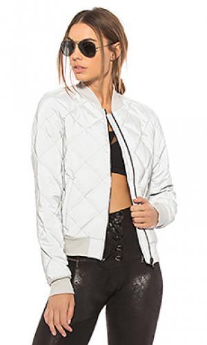 Куртка бомбер reflective idol alo. Цвет: металлический серебряный