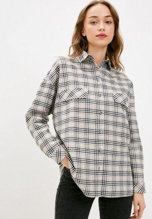 Рубашка Adele Fashion. Цвет: бежевый