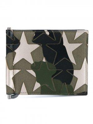 Складной бумажник Valentino Garavani. Цвет: зеленый