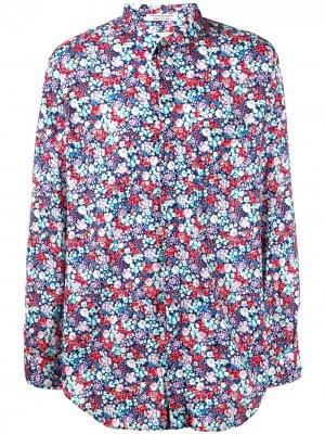 Рубашка с длинными рукавами и цветочным принтом Engineered Garments. Цвет: синий
