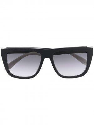 Солнцезащитные очки с градиентными линзами Alexander McQueen Eyewear. Цвет: черный