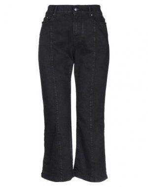 Джинсовые брюки-капри KARL LAGERFELD. Цвет: черный