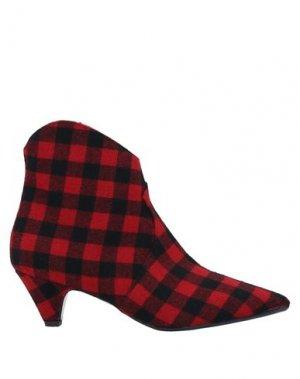 Полусапоги и высокие ботинки ANNA F.. Цвет: красный