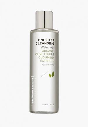 Мицеллярная вода Seventeen с экстрактом оливок и огурца ONE STEP Cleansing Water, 200 мл. Цвет: прозрачный