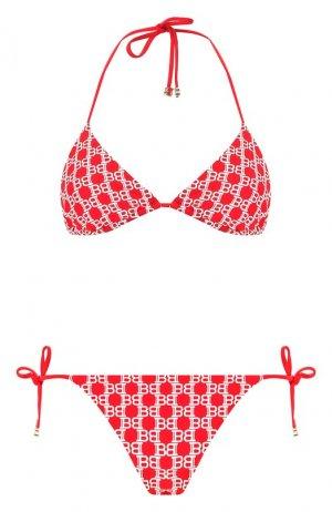Раздельный купальник Balmain. Цвет: красный