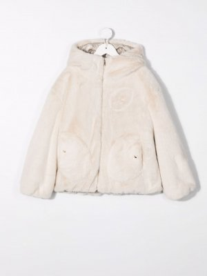 Faux-fur hooded jacket Herno. Цвет: нейтральные цвета