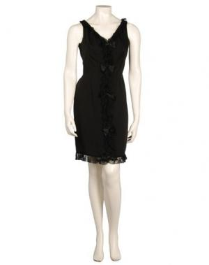 Короткое платье BILL BLASS. Цвет: черный