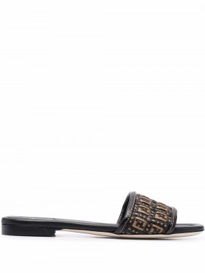 FF interwoven sandals Fendi. Цвет: черный