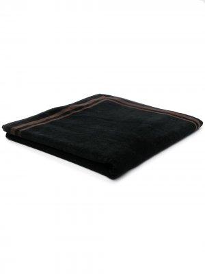 Пляжное полотенце в полоску Eleventy. Цвет: черный