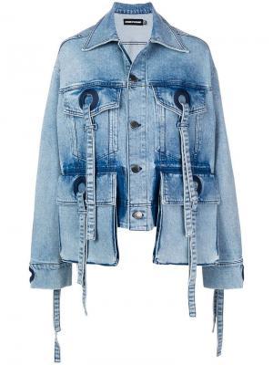 Джинсовая куртка House Of Holland. Цвет: синий